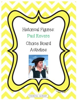 Historical Figures Choice Board - Paul Revere