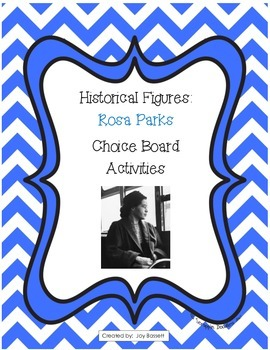 Historical Figures Choice Board - Rosa Parks