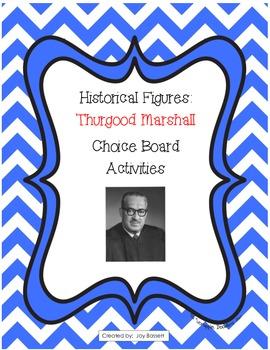 Historical Figures Choice Board - Thurgood Marshall
