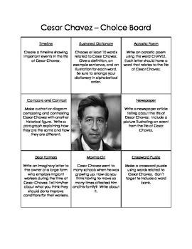 Historical Figures Choice Boards BUNDLE (9)