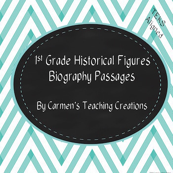 Historical Figures Comprehension Passages and Quizzes 1st grade