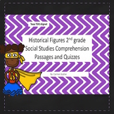 Historical Figures Comprehension Passages and Quizzes 2nd grade