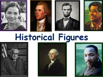 Historical Figures Flashcards - task cards, study guide, s