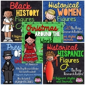 Research Bundle | Historical Figures, Christmas Around the World