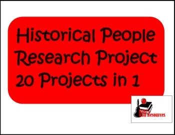 Historical Figures Research Project - 20 Projects in 1