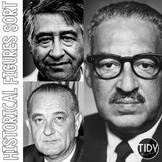 Cesar Chavez, Lyndon B. Johnson, Thurgood Marshall