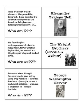 """Historical Figures """"Who Am I?"""" - 5th Grade Social Studies Review"""