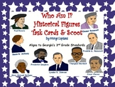 Historical Figures: Who Am I? Task Cards & Scoot