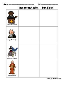 Historical Figures Worksheet
