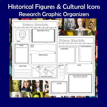 Historical Figures and Cultural Icons Biography Research Graphic Organizers