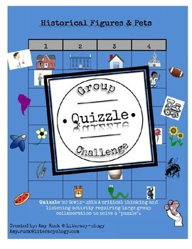Historical Figures and Pets- Group Quizzle Challenge