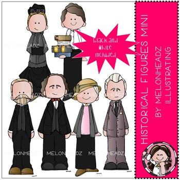 Historical Figures clip art - Mini - Melonheadz Clipart