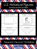 Historical Figures from American Revolution Research Pennants