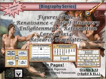 Historical Figures of World History Large 8.5x14 Research