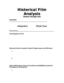 Historical Film Analysis