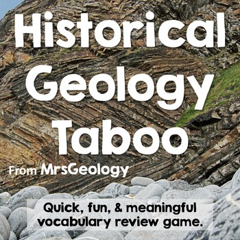 Historical Geology Taboo (Vocabulary Game)
