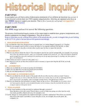 Historical Inquiry Worksheet