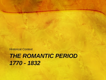 Historical Introduction to British Romanticism