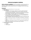 Historical Investigation Guidelines