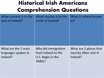 Historical Irish Americans {Speech Language Therapy & Curriculum Unit}
