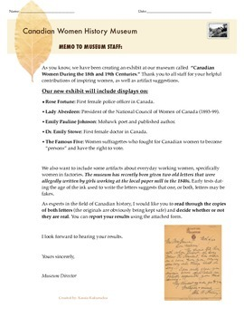 Historical Letters: Factory Workers and Artifacts