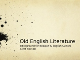 Historical & Literary Background for Old English Literature