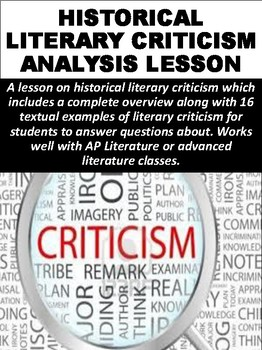 Historical Literary Criticism Lesson