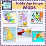 Historical Maps clipart {Social Studies} Asia, Mediterranean, China, Europe