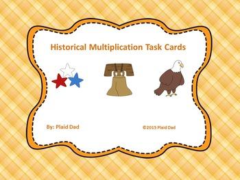 Historical Multiplication Task Cards