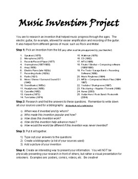 Historical Music Invention