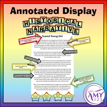 Historical Narrative Writing Features - Display or Activity