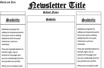 Historical Newsletter Template