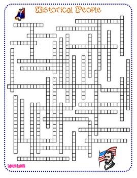 Historical People Crossword Puzzle