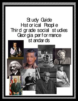 Historical People Study Guide for GA 3rd Grade Social Studies