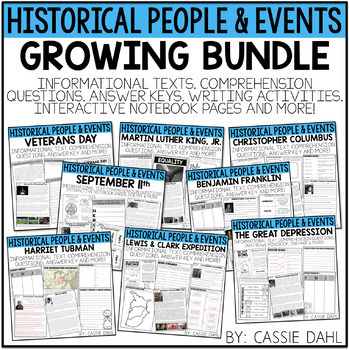 Historical People and Events Bundle