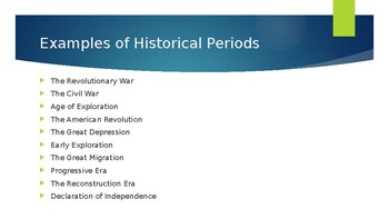 Capitalization of Historical Periods Powerpoint