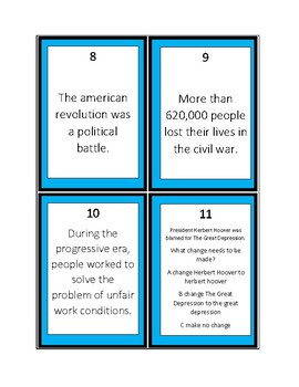 Capitalizing of Historical Periods Task Cards
