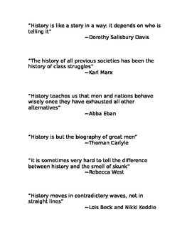 Historical Quotes Research