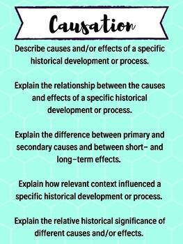 Historical Reasoning Skills Posters