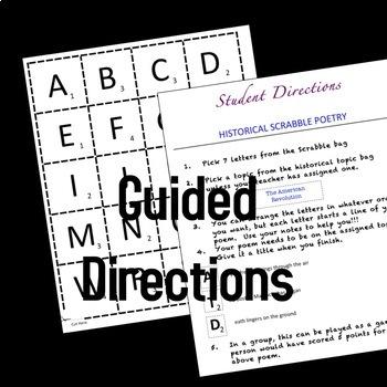 Historical Scrabble Poetry Grades 6-12