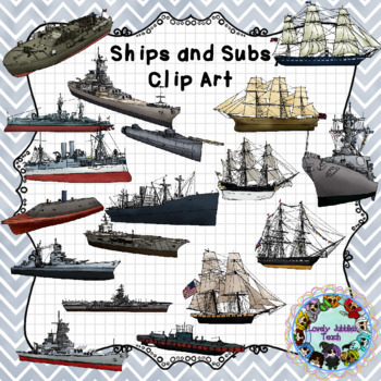 Historical Ships and Submarines Clip Art