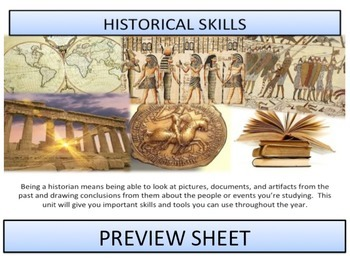 Historical Skills - Complete Unit