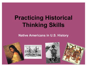 Historical Skills Practice - Native Americans