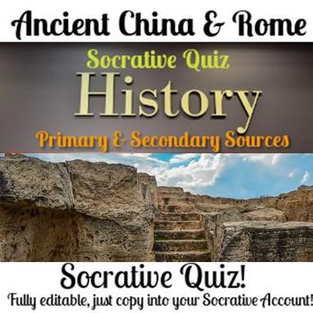 Historical Skills Socrative Quiz - Ancient Rome & China