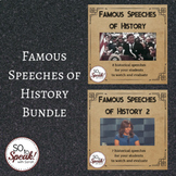 Famous Speeches of History Lesson BUNDLE