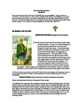 Historical St. Patrick reading/writing
