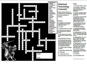 Historical Terminology Crossword