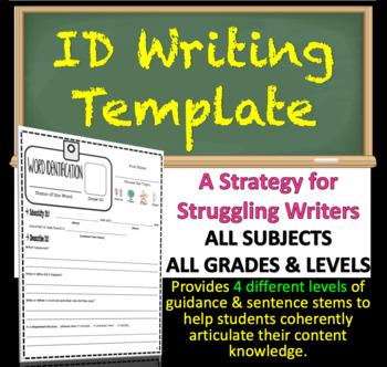 Historical Terms Identification Template Writing Strategy