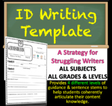 "Identification ""ID"" Writing Template Strategy - MATH, SCIENCE, HISTORY, ELA, ART"