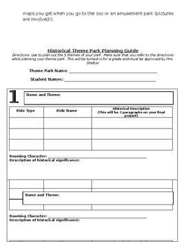 Historical Theme Park Project
